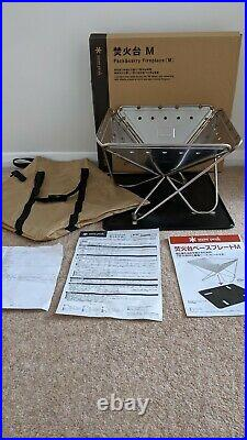 Snow Peak Pack & Carry Fireplace Firepit (m) + Base Plate (m) Brand New