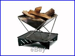 Snow Peak Pack & Carry Fireplace L making a fire starter set for 5-6 people