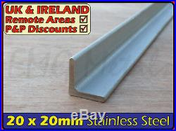 Stainless Steel Angle 20x20 mm x3mm marine, L section iron, profile, bracket