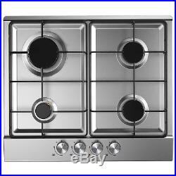 Stainless Steel CDA Electric Oven, 60cm Cookology Built-in Gas Hob & Hood Pack
