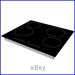 Stainless Steel CDA Electric Oven, 60cm Cookology Ceramic Hob & Hood Pack