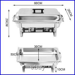Stainless Steel Chafing 1/2/4 Pack Buffet Catering Dish Food Warmer 2Fuel Tray