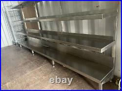 Stainless Steel Freestanding Commercial Shelving Units (Can Flat Pack)