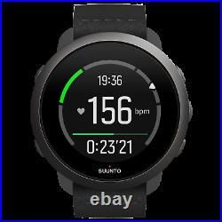 Suunto 3 Multisport Fitness Tracker All Black Watch with Power Pack Bundle
