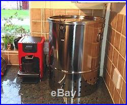 Twin Pack, 2 x DELUXE STAINLESS STEEL BOKASHI COMPOSTER, Indoor Compost Bin, NEW