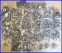 UNF Stainless Steel Bolts, Nuts & Washer 1550+ Project Pack suits TRs + Triumphs