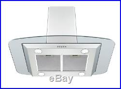 Unbranded 90cm touch control Ceramic Hob & Flat Glass Island Cooker Hood Pack