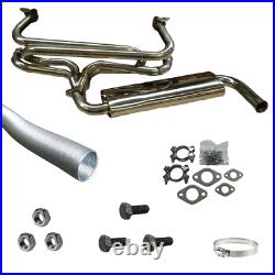 VW Camper And Beetle Stainless Steel Single Quiet Pack Exhaust System