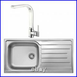 Venta Luxury Stainless Steel 1.0 Single Bowl Sink and Tap Pack FREE delivery