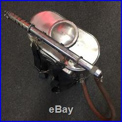 Vintage FIRE FIGHTER WAJAX Extinguisher Back Pack Chapin Rescue Stainless Steel