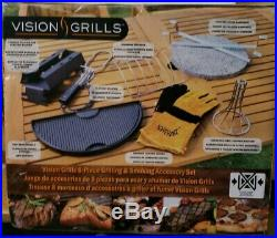Vision Grills Kamado Grill Accessory Pack (8-Piece) For Big Green Egg & Kamado