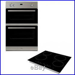Whirlpool AKZ162/02/IX Built In Double Oven & Cookology CET600 Ceramic Hob Pack